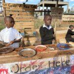 Kids enjoying the Grain of Rice Cafe!